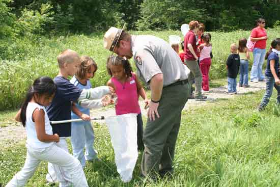There are a number of parks with Junior Ranger programs for kids. Click this image for more information!