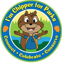 Chipper for Parks Badge! Connect • Celebrate • Conserve