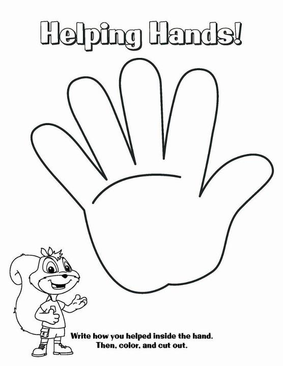 helping hands coloring page - photo #3