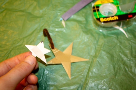 Recycle Christmas Craft Tree Ornament