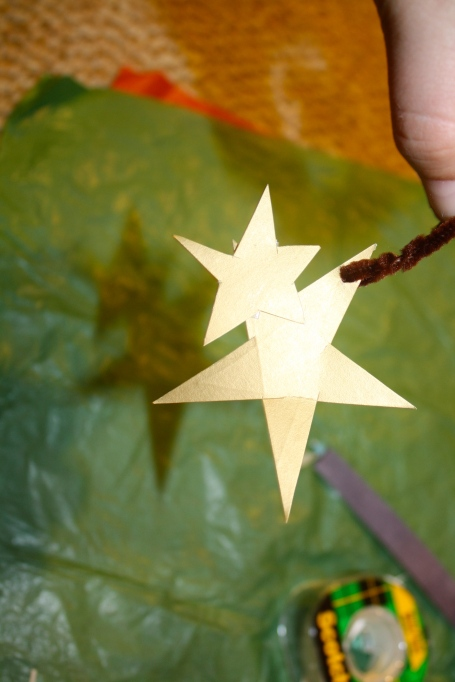 DOuble Star Recycle Christmas Craft Tree Ornament