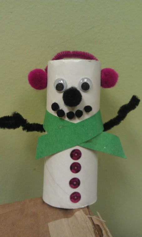 Toilet Paper Roll Snowman Christmas Recycle Craft