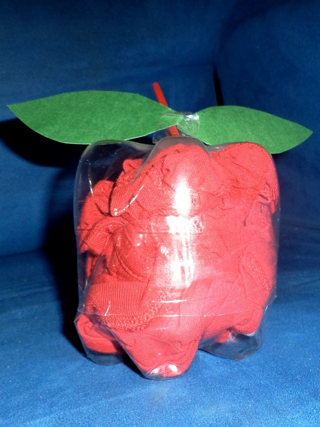 Recycle Craft Apple for Kids using Plastic bottle