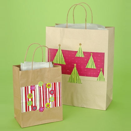 Reuse old shopping bags for customized gift bags
