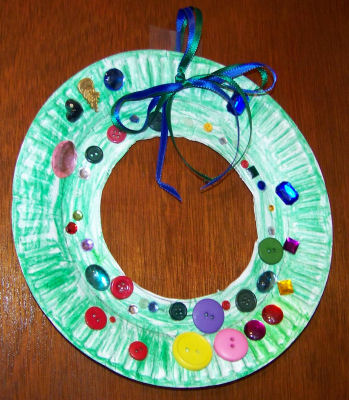 paperplate-wreath