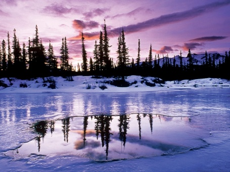 Frozen lakes and waterway facts