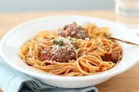 spaghetti and meatball image