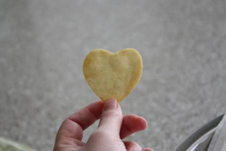 Heart Shaped Tortilla Chips | healthy kids snack for Valentines Day