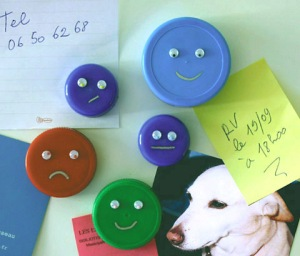 plastic bottlecap magnets
