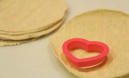Heart Shaped Tortilla Chips   healthy kids snack for Valentines Day