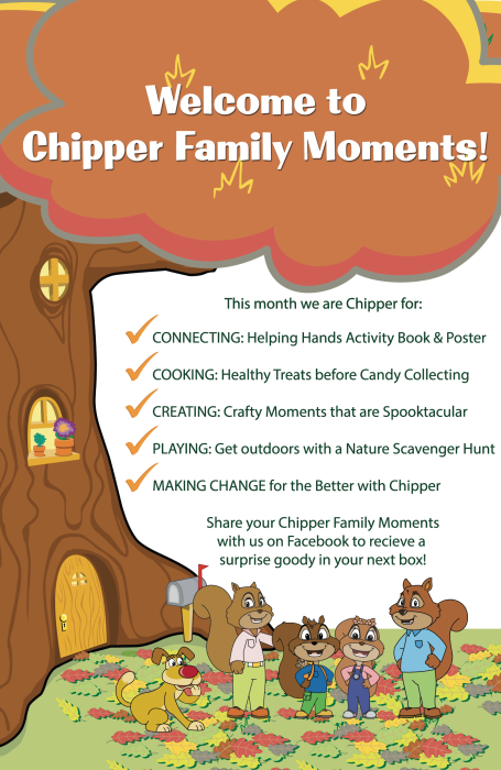 Chipper Family Moments Pamphlet for November