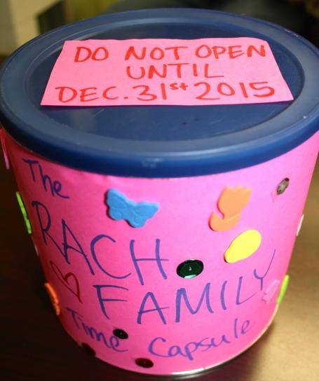 Family Activities, Family Bonding, Family  Time Capsule, DIY Time Capsule